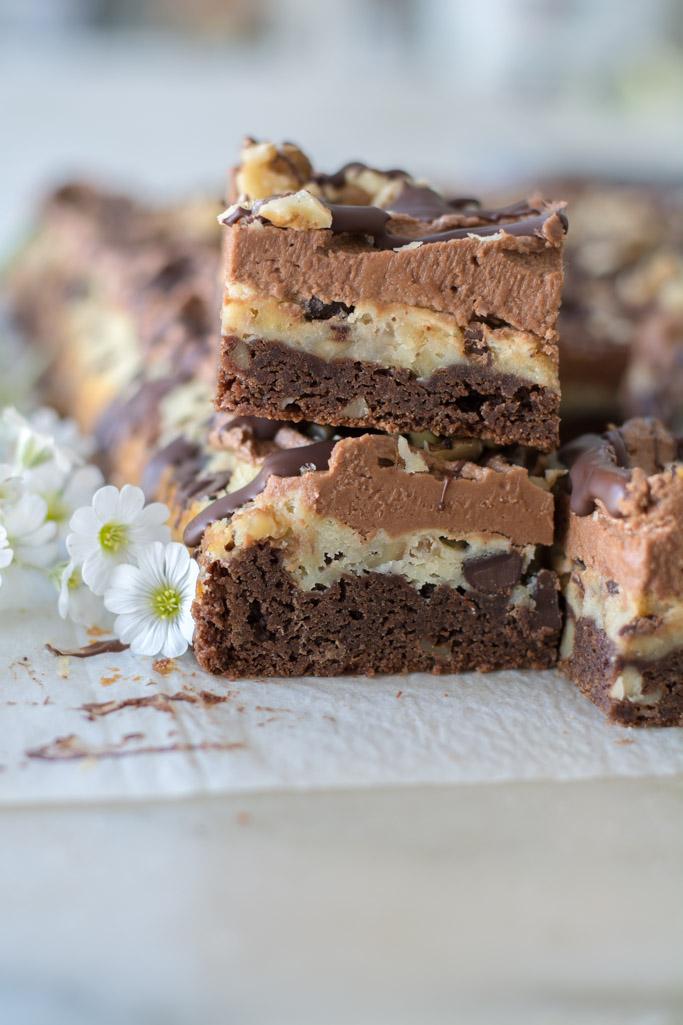 DSC 0010 - Layered Chocolate Cream Cheese Brownies