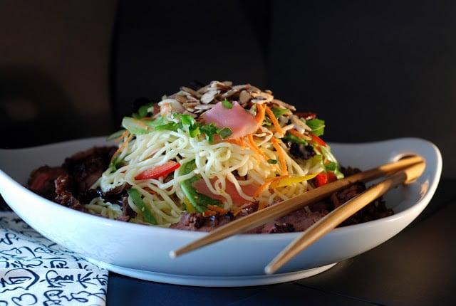 1 1 - Beef Soba Noodle Salad with Mango Ginger Dressing