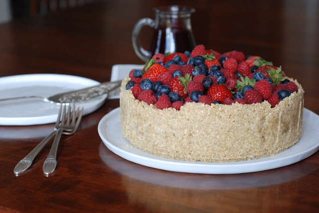 46 - Frozen Lime Torte with Mixed Berries for Decoration Day