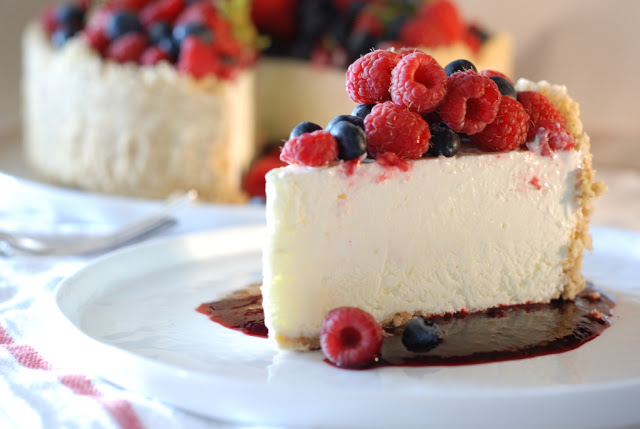 47 - Frozen Lime Torte with Mixed Berries for Decoration Day