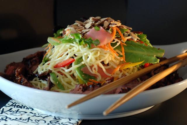 72 - Beef Soba Noodle Salad with Mango Ginger Dressing