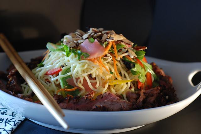 74 - Beef Soba Noodle Salad with Mango Ginger Dressing