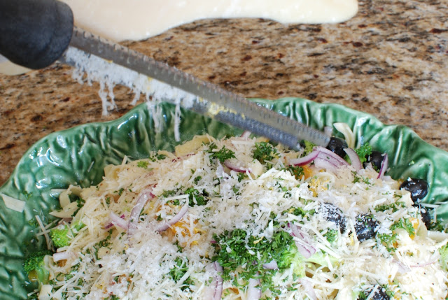 34 - Orange Broccoli Fettuccine Salad with Lemon Poppy Seed Dressing