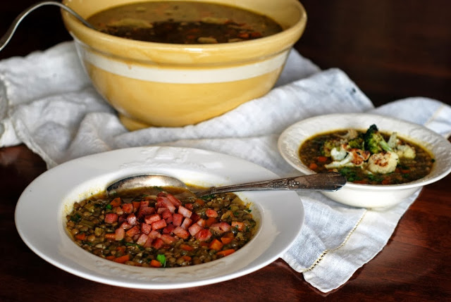 41 1 - Simple French Lentil Soup  (His and Hers)
