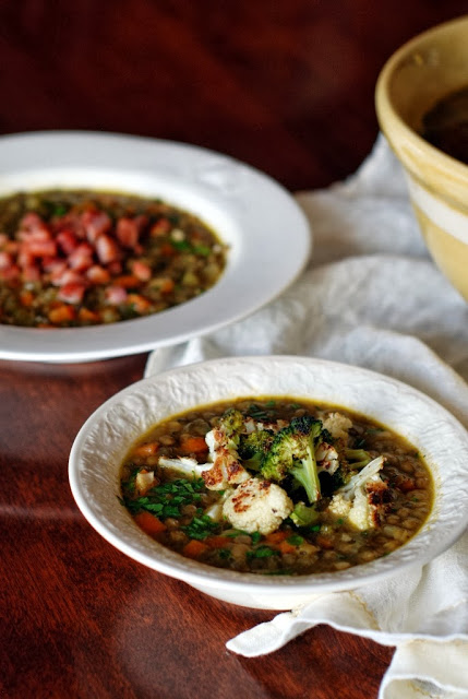 42 1 - Simple French Lentil Soup  (His and Hers)