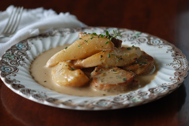 Vanilla Cider Pork with Pears