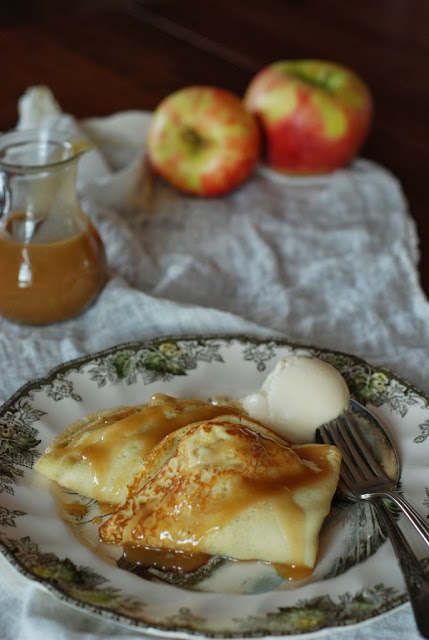 2 1 - Apple Crepes with Caramel Sauce