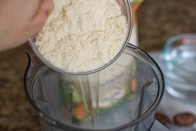 Almond flour in a bowl