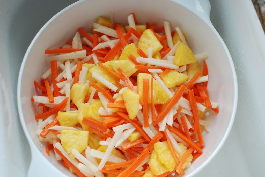 33 2 1024x687 - Fresh Pineapple Salad with pickled Jicama and Carrots
