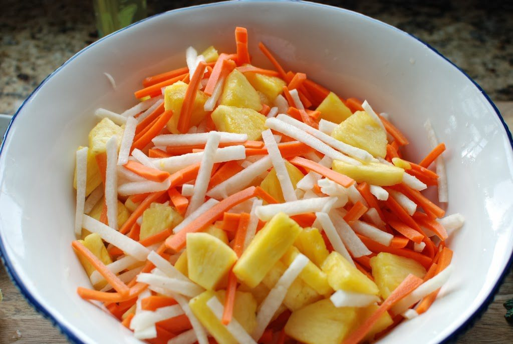 34 2 1024x687 - Fresh Pineapple Salad with pickled Jicama and Carrots