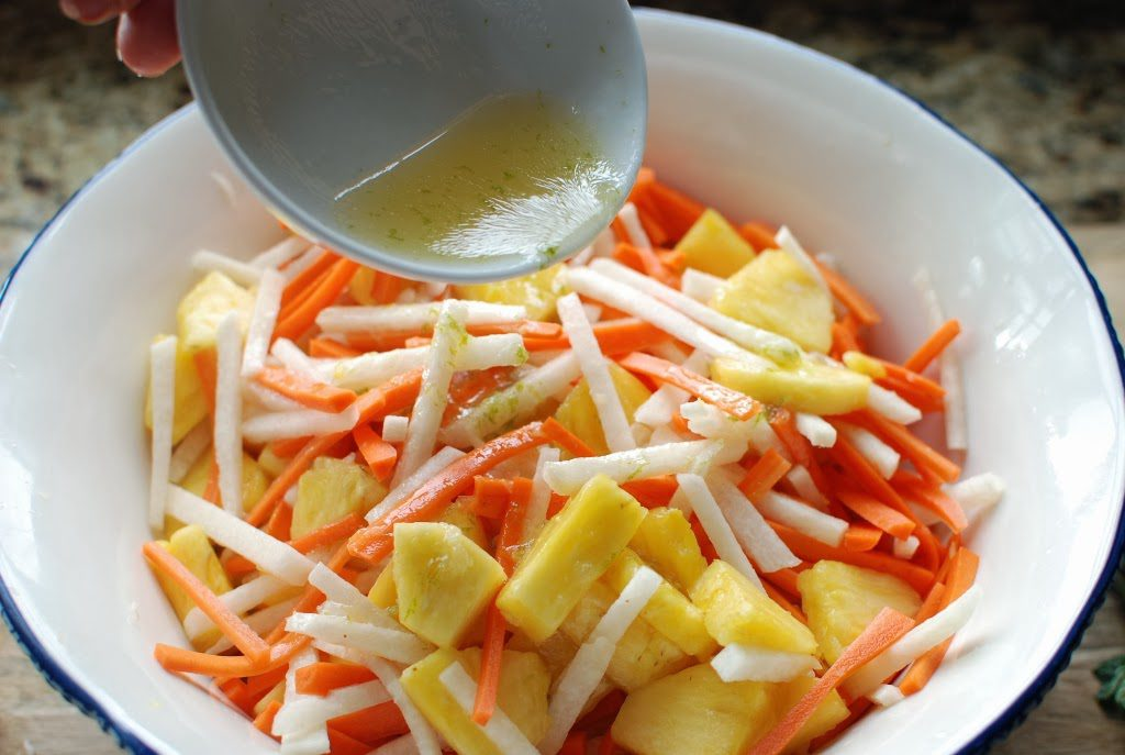 35 2 1024x687 - Fresh Pineapple Salad with pickled Jicama and Carrots