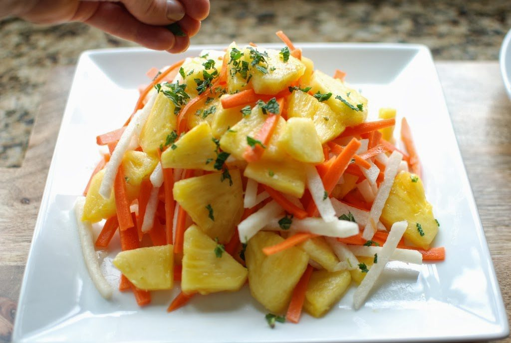 36 2 1024x687 - Fresh Pineapple Salad with pickled Jicama and Carrots