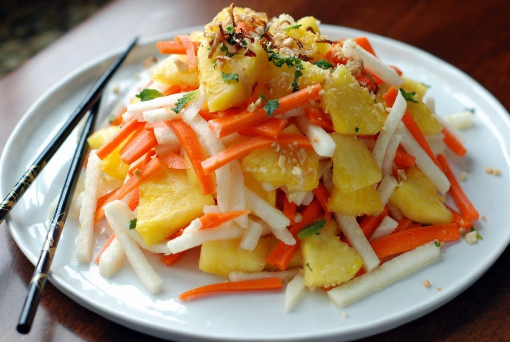 39 1 1024x687 - Fresh Pineapple Salad with pickled Jicama and Carrots