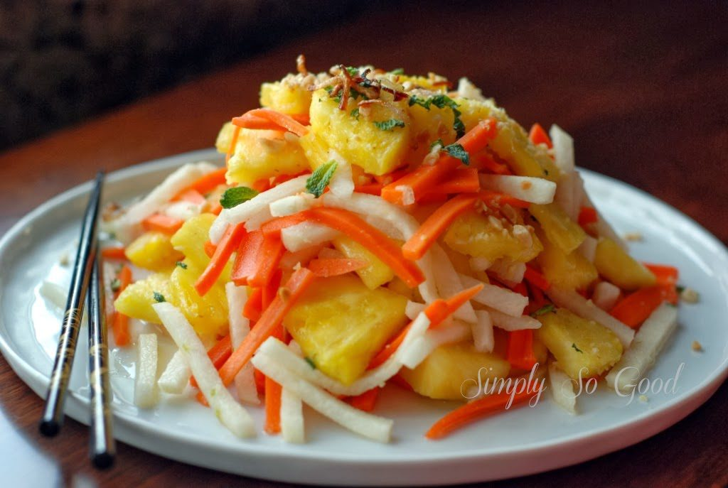 47 1 1024x687 - Fresh Pineapple Salad with pickled Jicama and Carrots