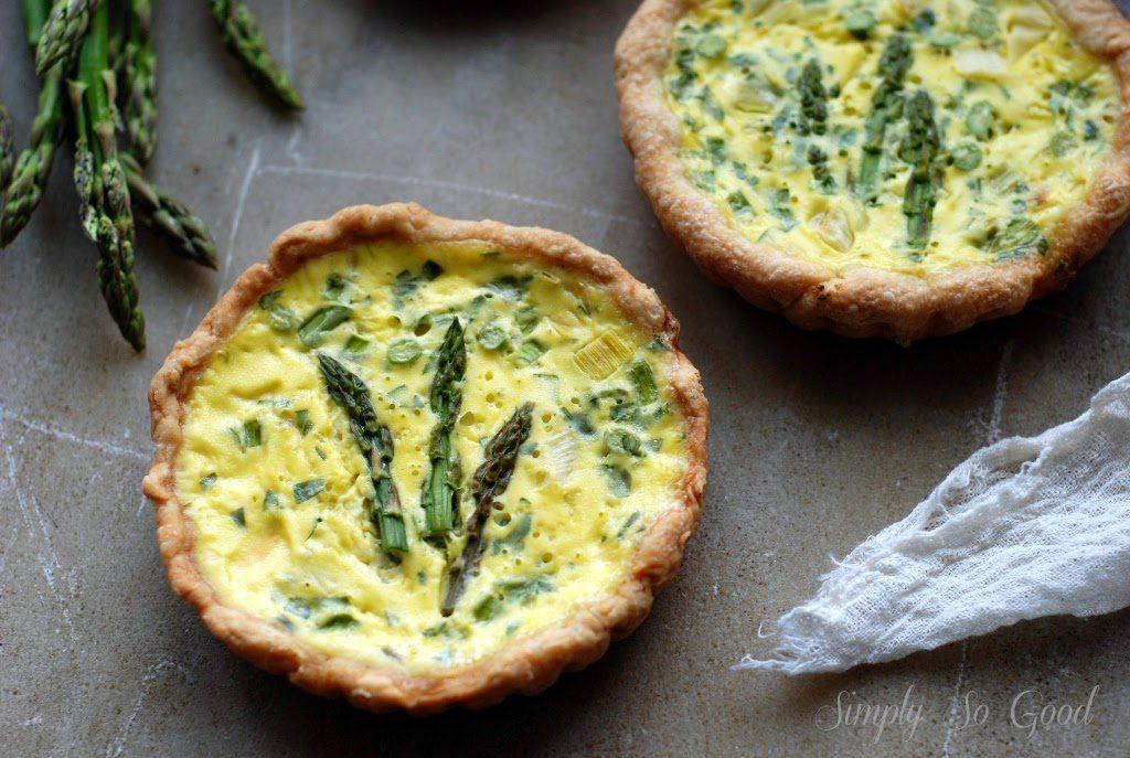 asparagus quiche 009 1024x687 - Spring Leek and Asparagus Quiche