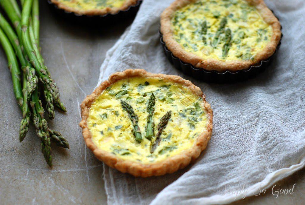 asparagus quiche 027 1024x687 - Spring Leek and Asparagus Quiche