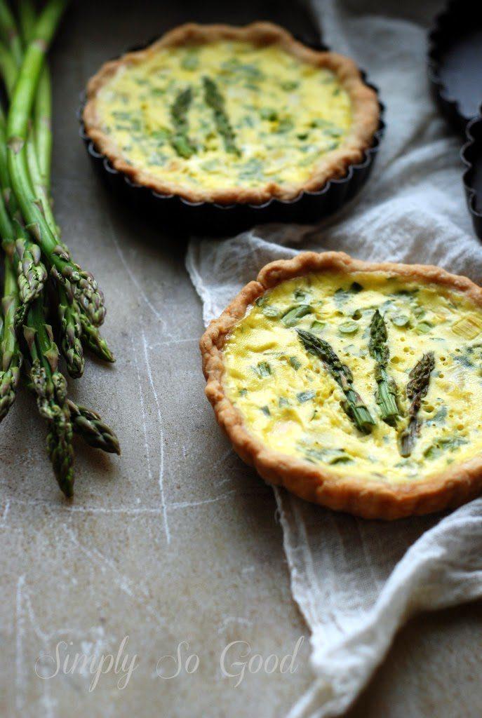 asparagus quiche 031 687x1024 - Spring Leek and Asparagus Quiche