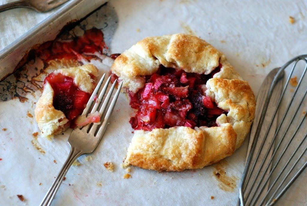 22 1 1024x687 - Rustic Strawberry Rhubarb Tarts