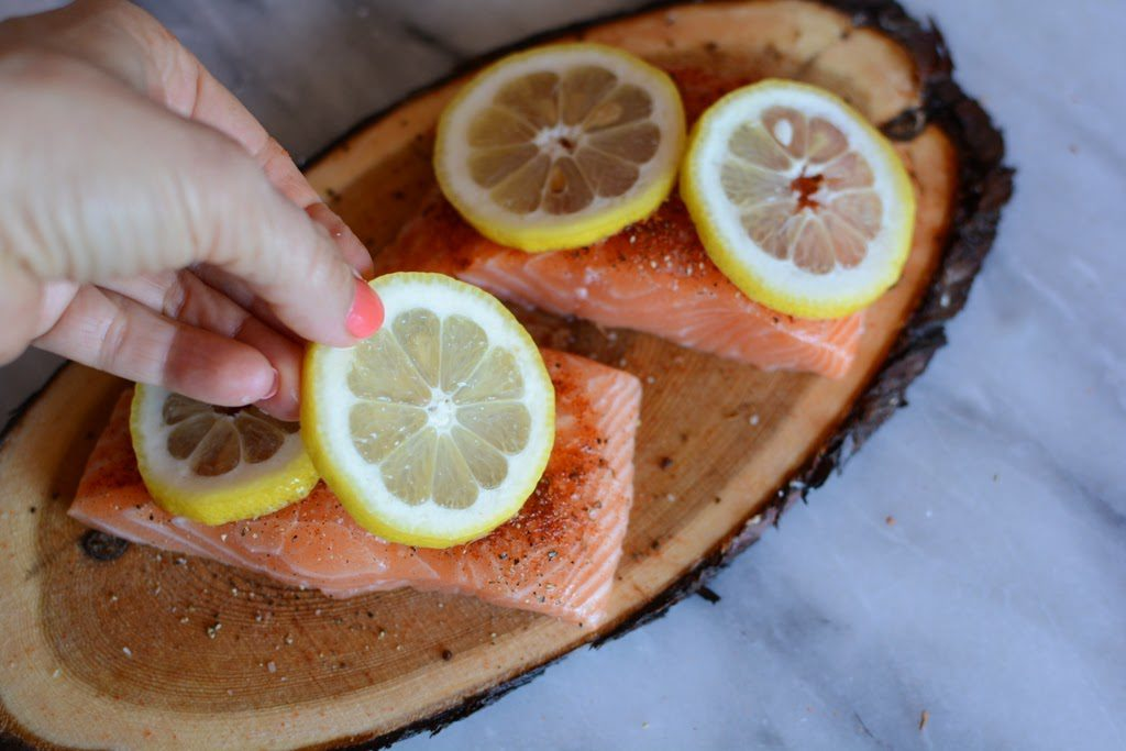 13 1 1024x683 - Cedar Plank Salmon with Lemon and Dill