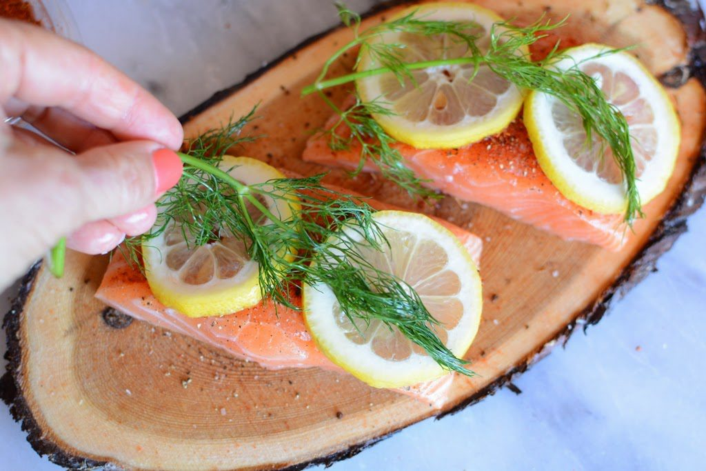 14 1 1024x683 - Cedar Plank Salmon with Lemon and Dill