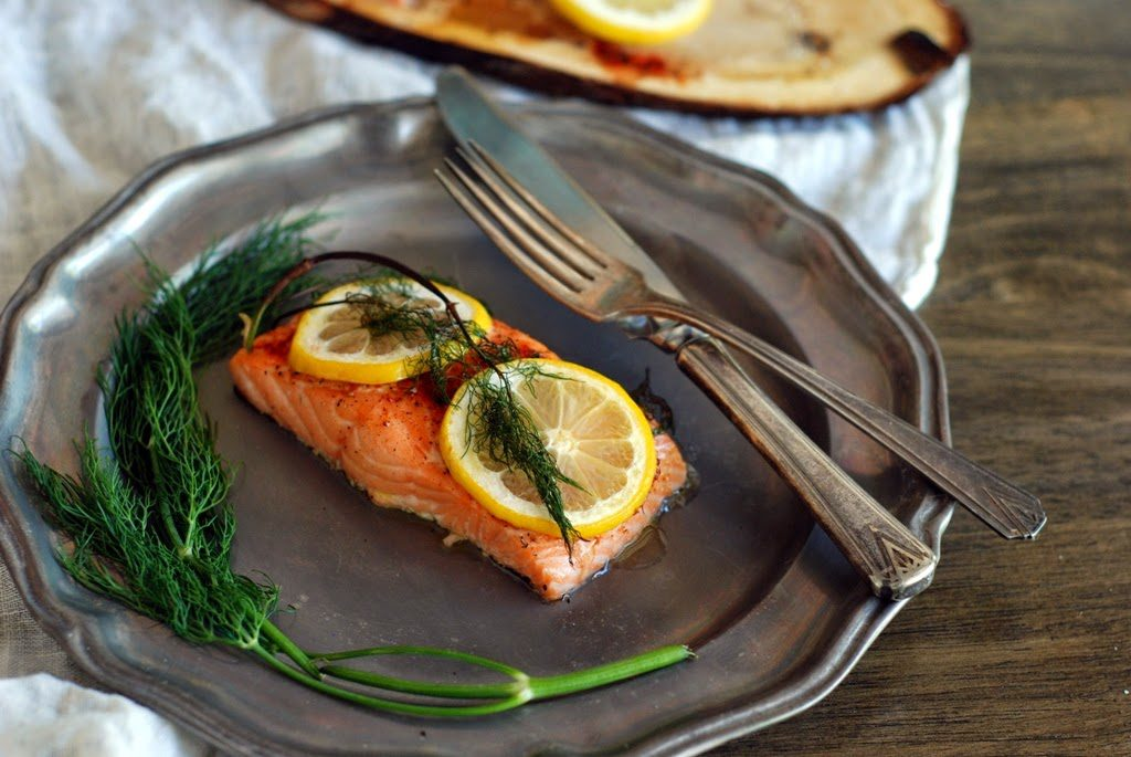 22 1 1024x685 - Cedar Plank Salmon with Lemon and Dill