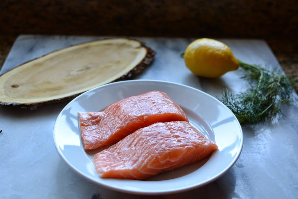 3 1 1024x683 - Cedar Plank Salmon with Lemon and Dill