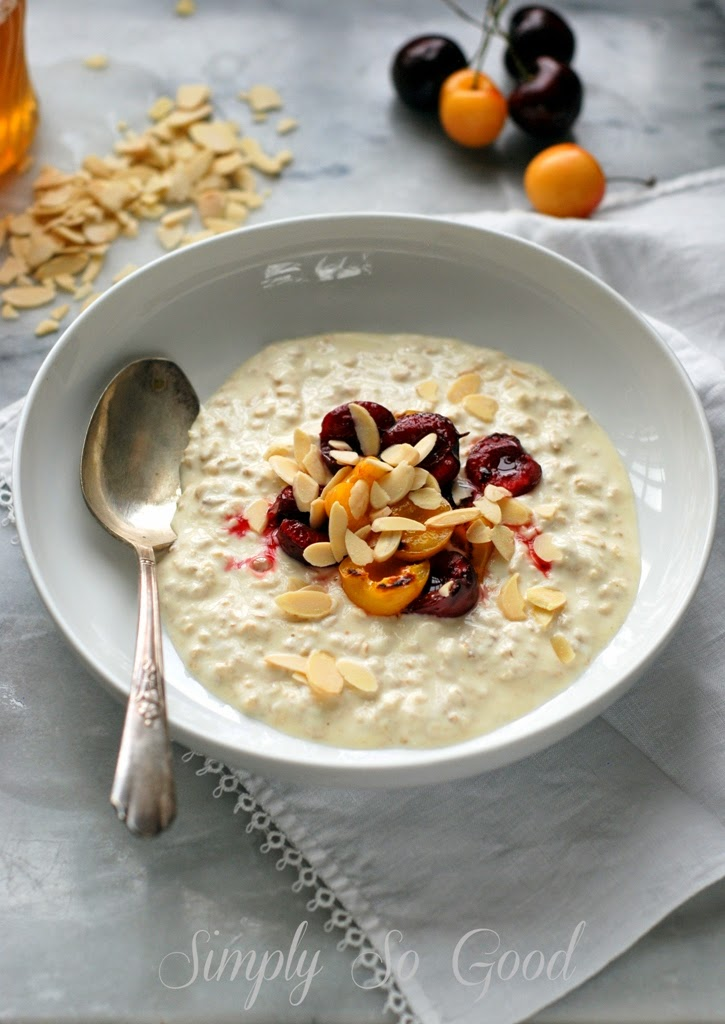 Bircher Muesli with Bruleed Cherries