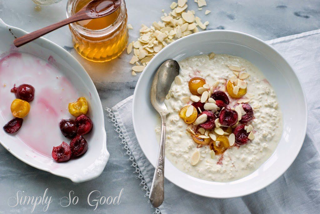 Bircher Muesli with Bruleed Cherries 1 1024x685 - Bircher Muesli with Bruleed Cherries