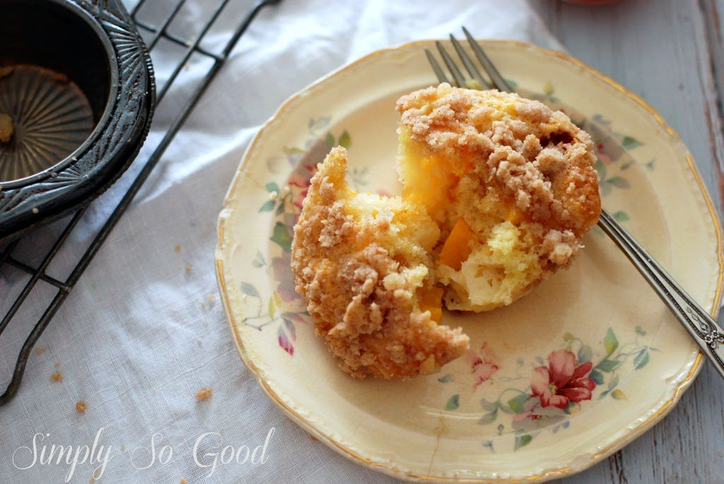 1 1 1024x685 - Peach Ginger Muffins