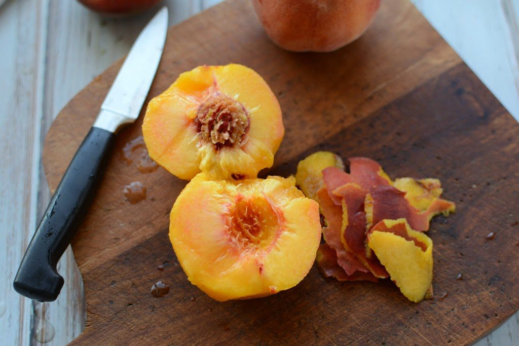 11 1 1024x683 - Peach Ginger Muffins