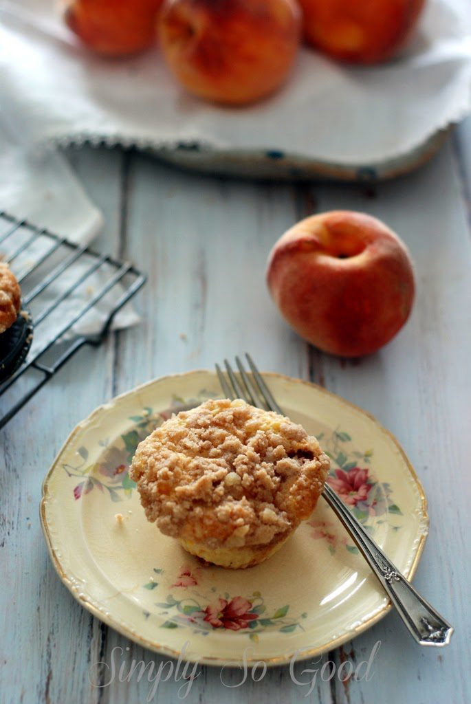 2 1 685x1024 - Peach Ginger Muffins and Silicone Baking Cups from New York Baking Company