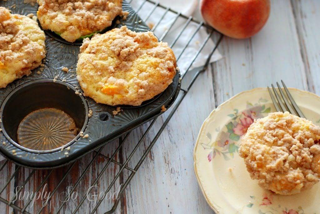 3 1 1024x685 - Peach Ginger Muffins
