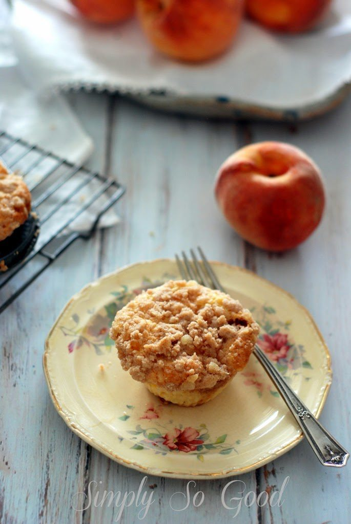 30 685x1024 - Peach Ginger Muffins