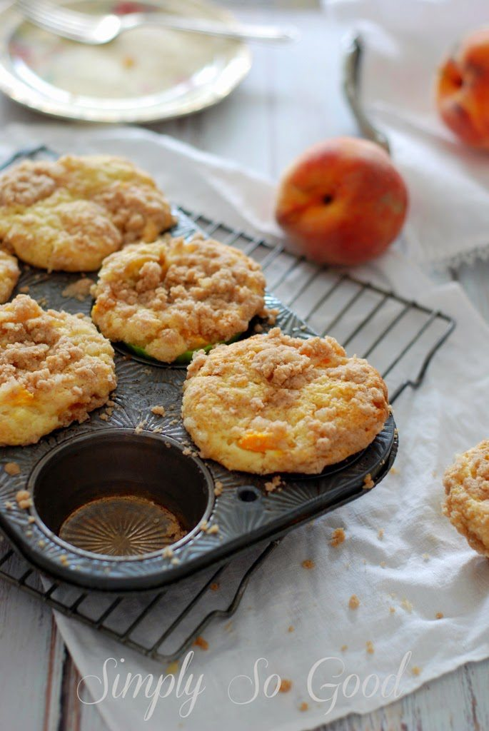 31 685x1024 - Peach Ginger Muffins and Silicone Baking Cups from New York Baking Company