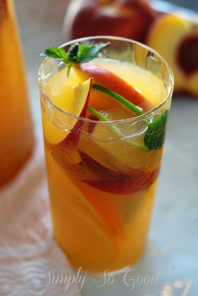 Sangria009 685x1024 - Fresh Peach Sangria Mocktail My Way