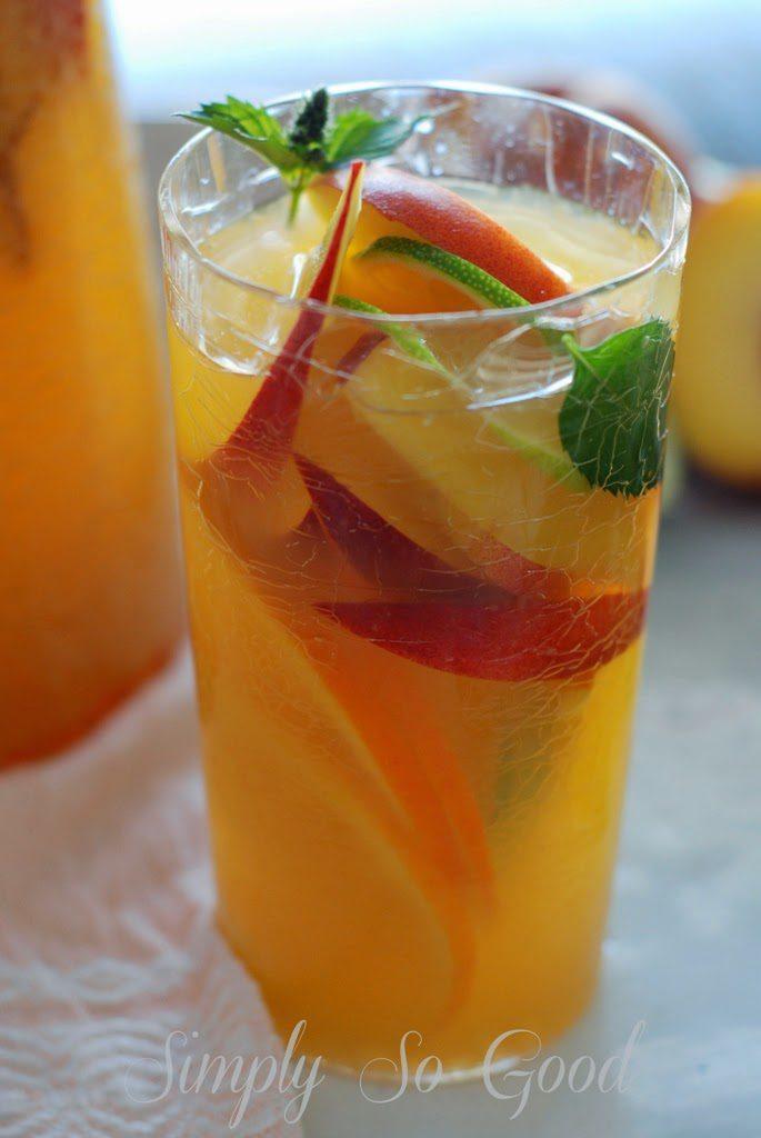 Sangria012 685x1024 - Fresh Peach Sangria Mocktail My Way
