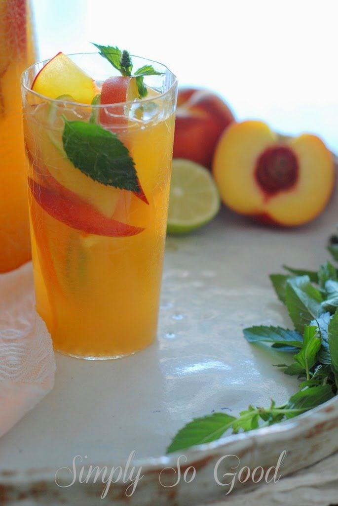 Sangria013 685x1024 - Fresh Peach Sangria Mocktail My Way