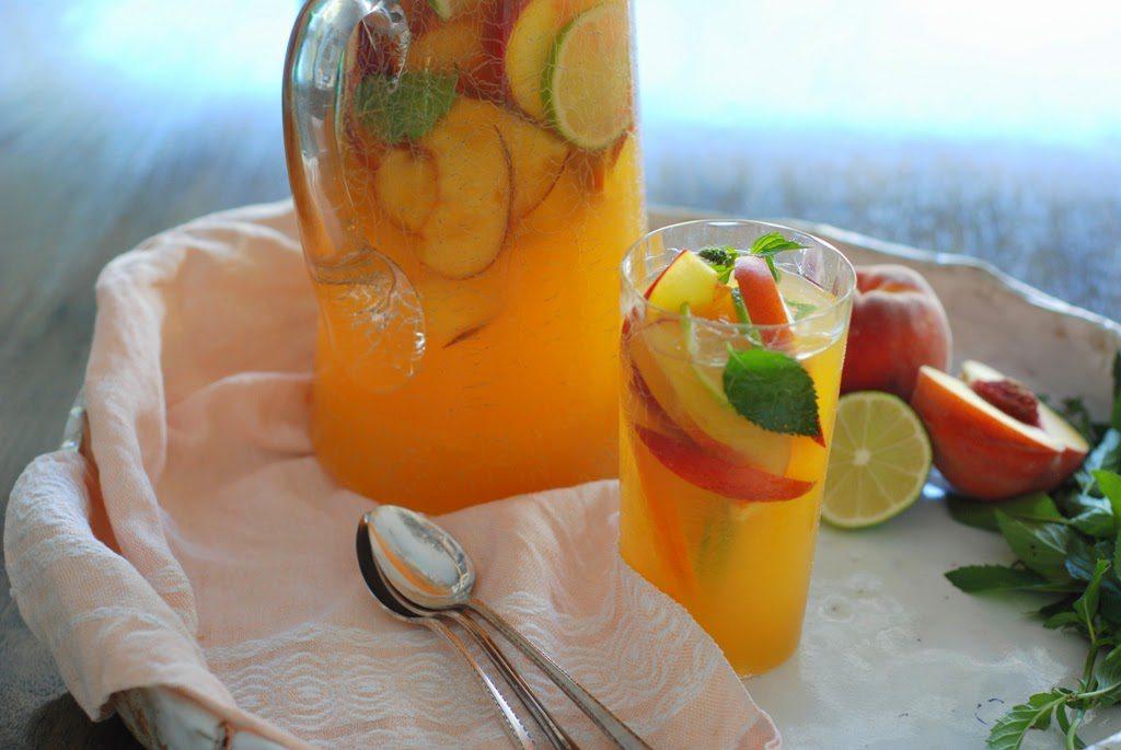 Sangria051 1024x685 - Fresh Peach Sangria Mocktail My Way