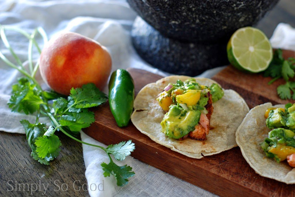 11 3 1024x685 - Salmon Tacos with Grilled Peach Guacamole in 30 minutes...or less
