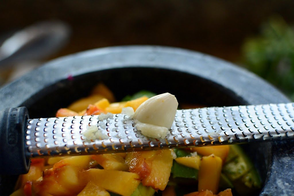 29 1024x683 - Salmon Tacos with Grilled Peach Guacamole in 30 minutes...or less