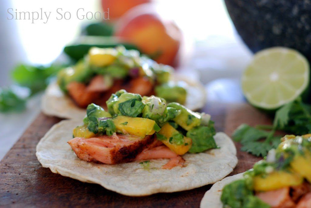 6 3 1024x685 - Salmon Tacos with Grilled Peach Guacamole in 30 minutes...or less