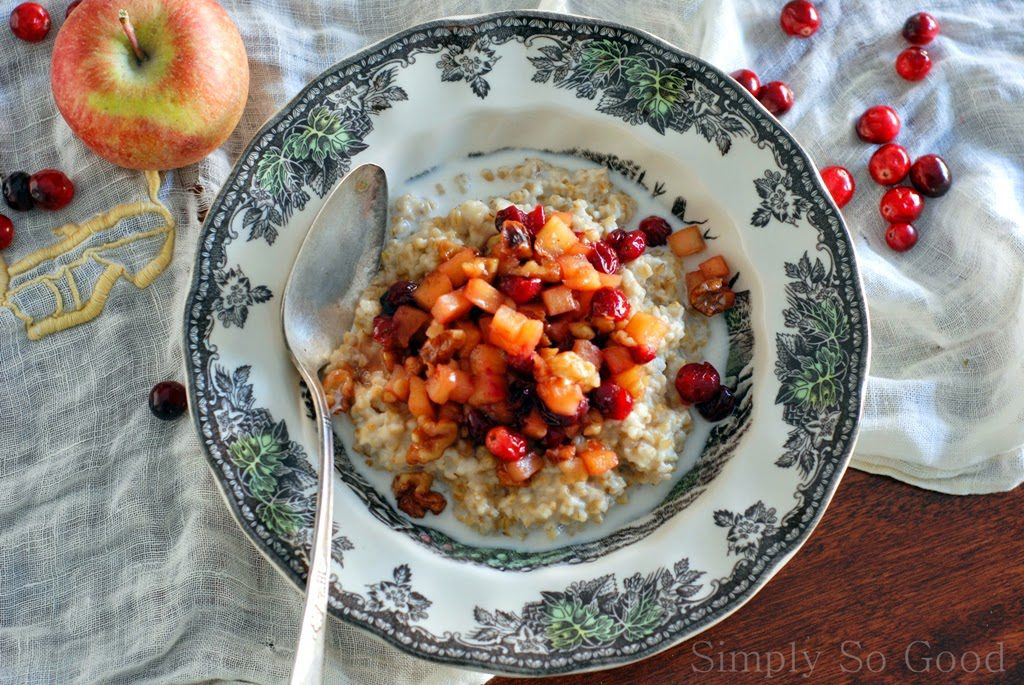 37 1024x685 - My Favorite Oatmeal After a Cold Morning Run with Apples and Cranberries