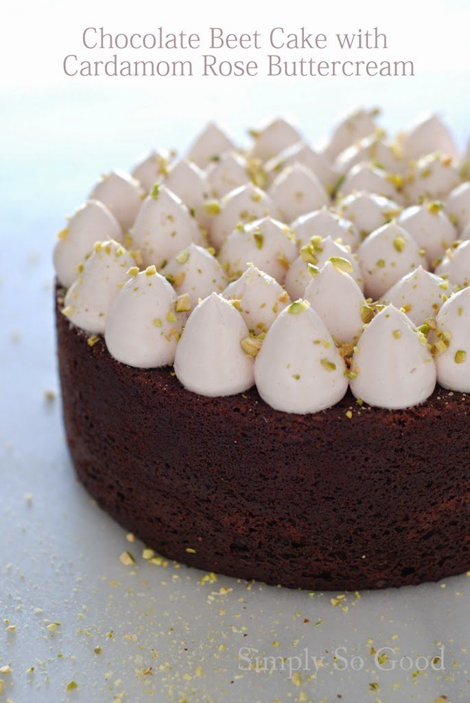 1 685x1024 - Chocolate Beetroot Cake with Cardamom Rose Swiss Meringue Buttercream and  Pistachios