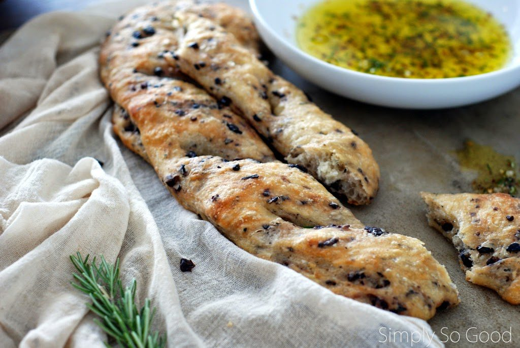 6 3 1024x685 - Kalamata Olive and Rosemary Fougasse with Fresh Herb and Pepper Dipping Oil