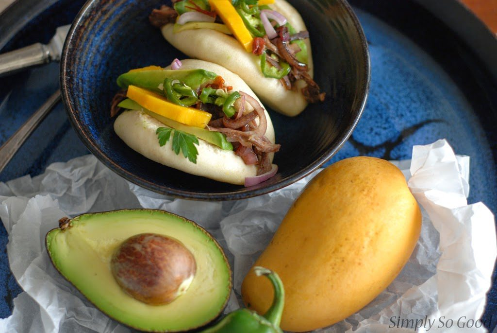 43 1024x685 - Crockpot Barbacoa Beef with Balsamic Glazed Shallots, Pickled Jalapenos, and Mango on a Steamed Bun