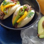 46 2 150x150 - Crockpot Barbacoa Beef with Balsamic Glazed Shallots, Pickled Jalapenos, and Mango on a Steamed Bun