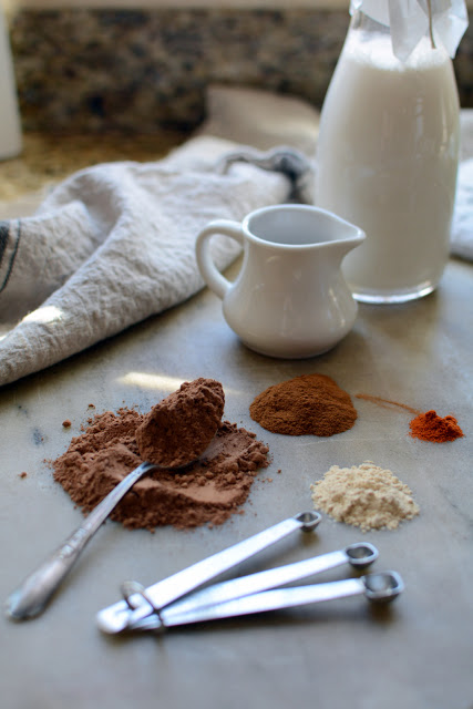 7 - Coconut- Almond Milk Spiced Hot Chocolate