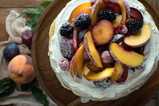 DSC 0186 - Einkorn Crepe Cake with Fall Stone Fruit