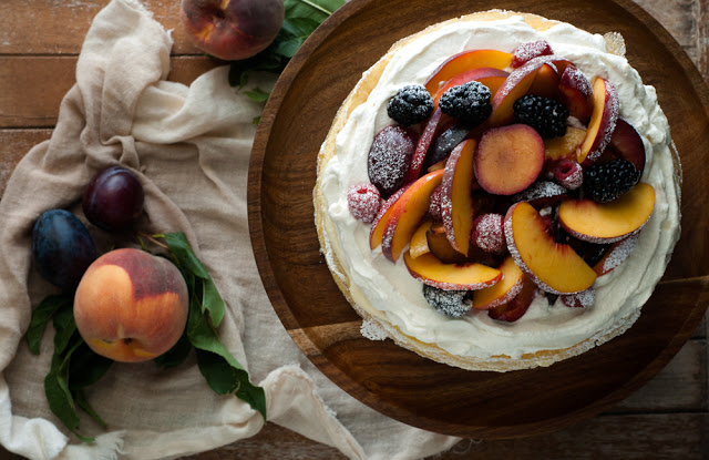 DSC 8529 - Einkorn Crepe Cake with Fall Stone Fruit