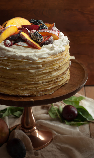 DSC 8552 - Einkorn Crepe Cake with Fall Stone Fruit